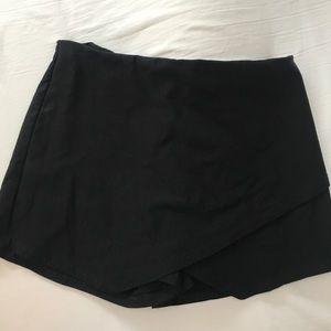 Pants - Black Envelope Skirt
